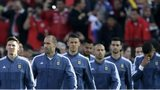 Argentina's players line-up
