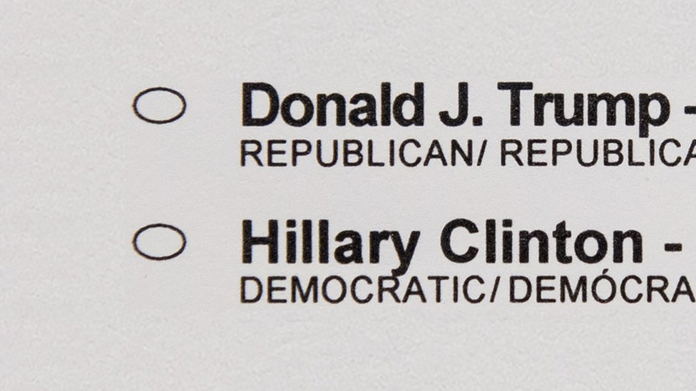 Election ballot paper