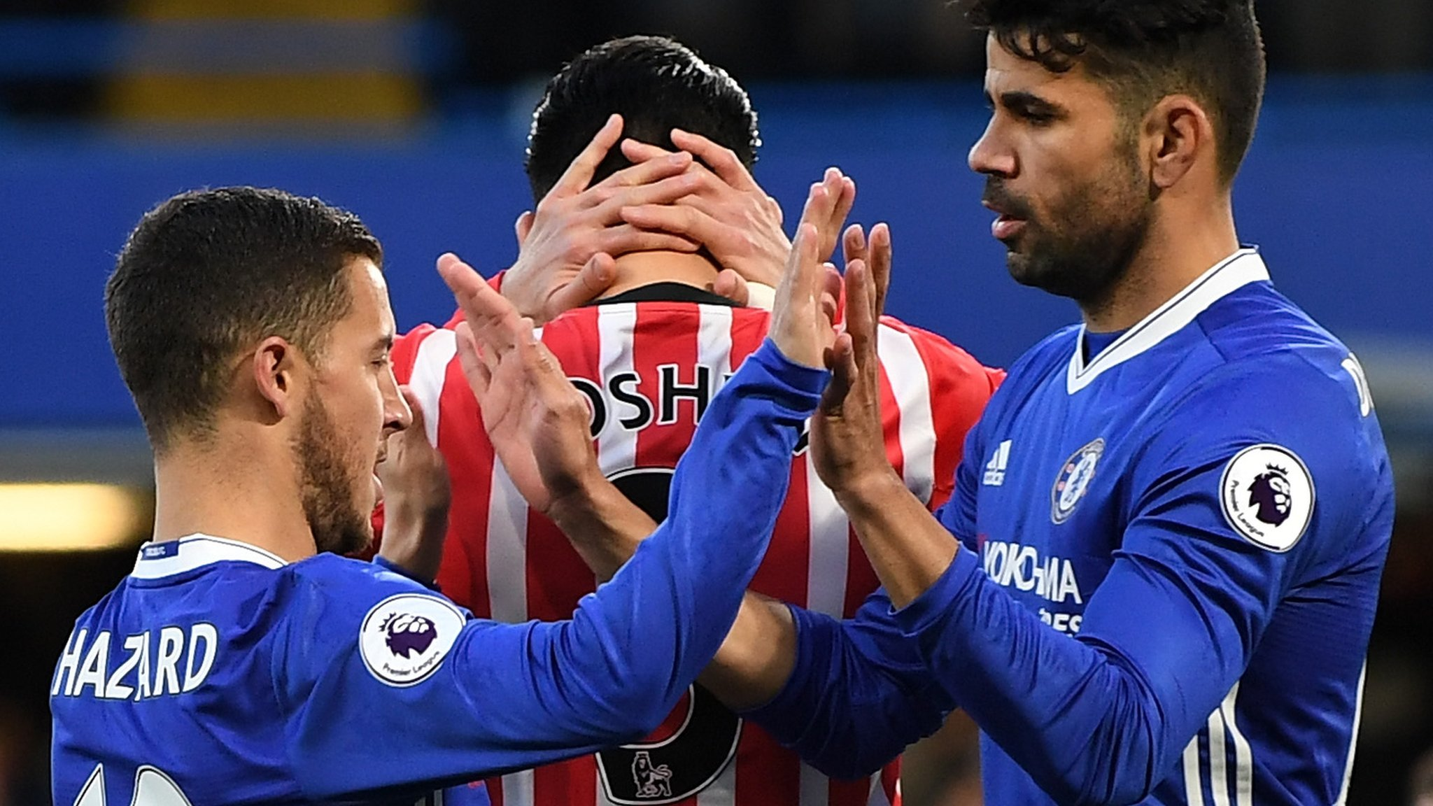 Costa scores twice as Chelsea stretch lead to seven points