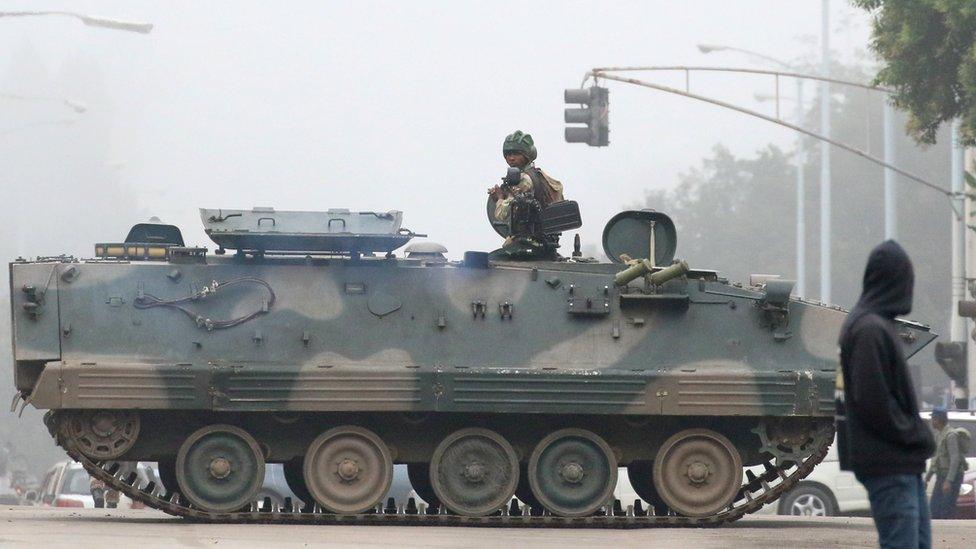 Zimbabwe crisis: Army takes over - Mugabe 'detained