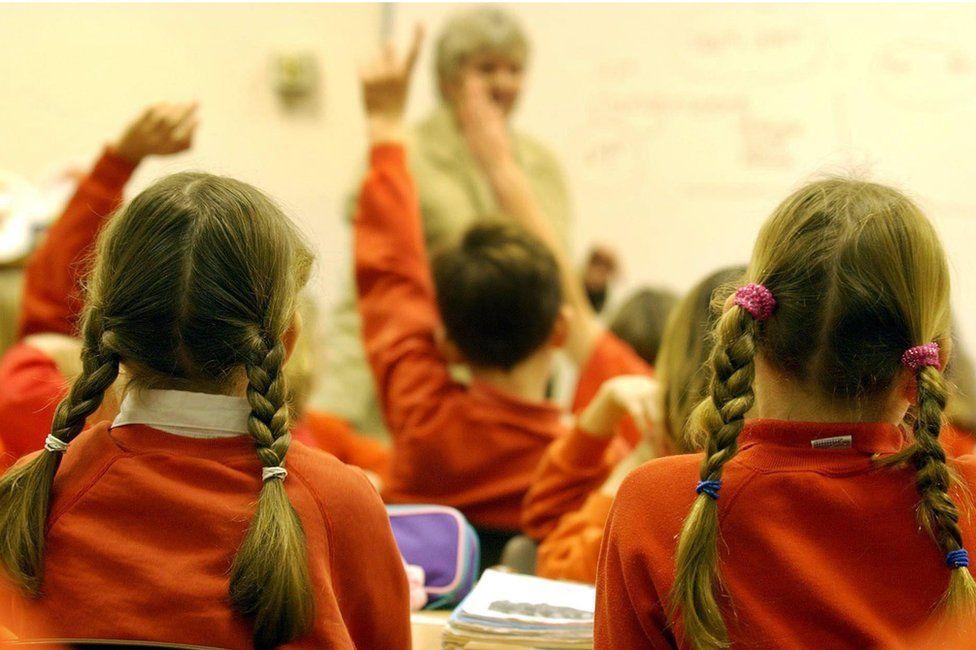Grupo de niñas en la escuela