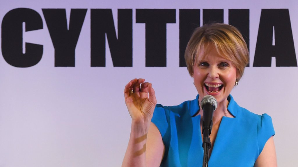 Cynthia Nixon holds governor rally