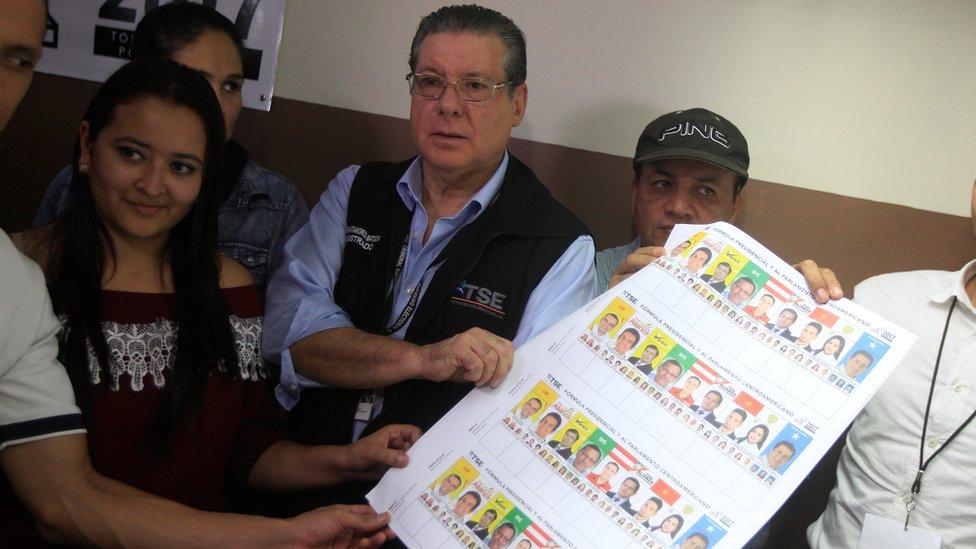 El presidente del Tribunal Supremo Electoral de Honduras, David Matamoros.