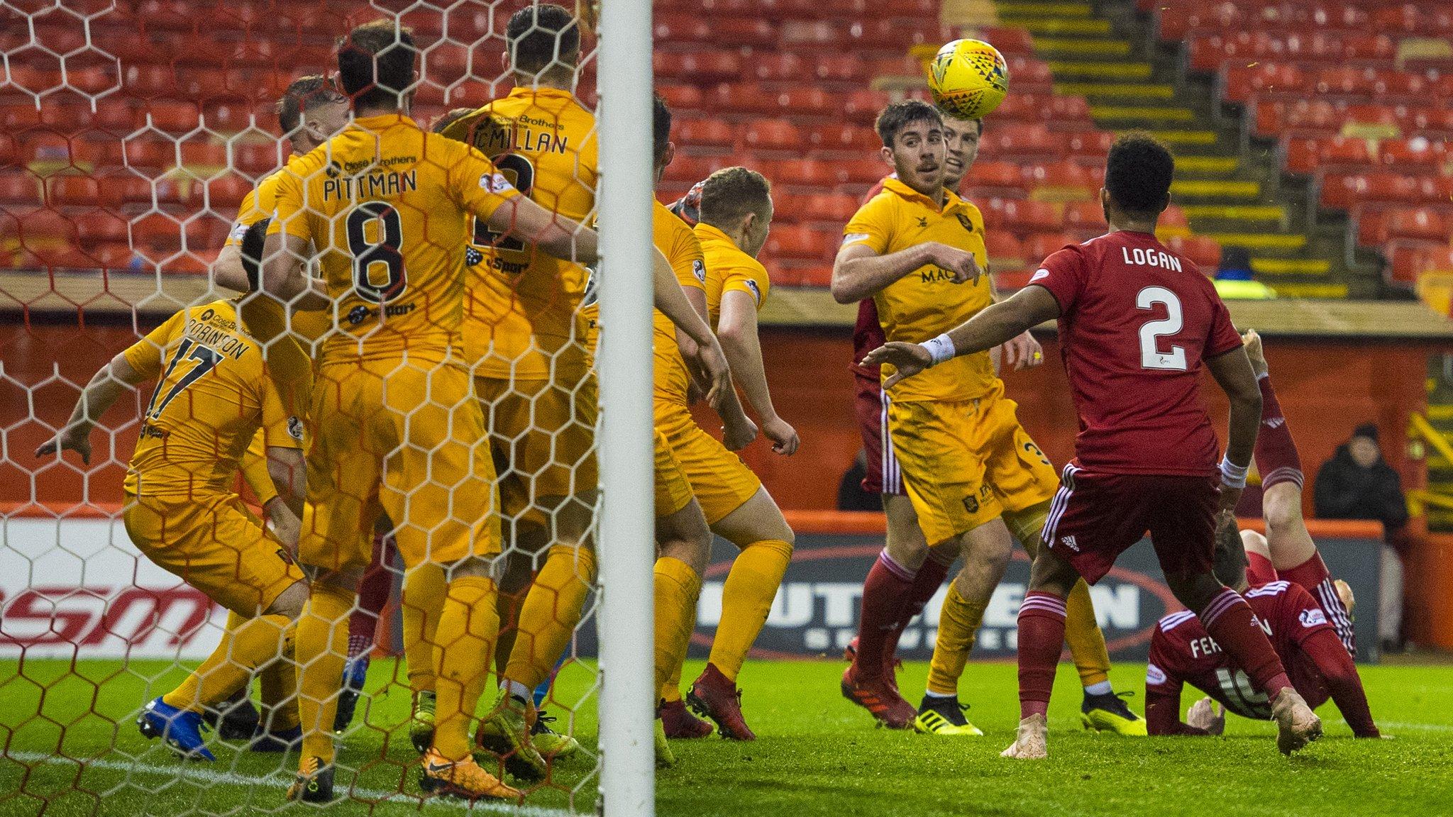 Watch Ferguson's overhead kick for Aberdeen