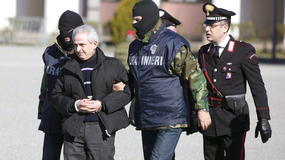 Arresto de un jefe de la mafia italiana