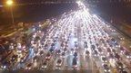 Gridlocked motorway