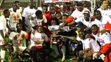 Kenya celebrate winning the 2013 Cecafa Senior Challenge Cup