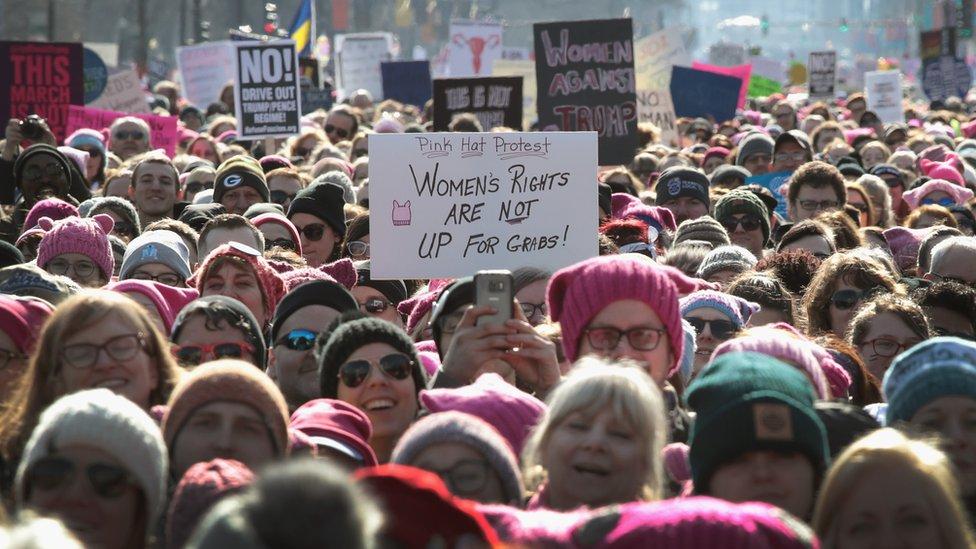 Marcha de Mujeres en Chicago.