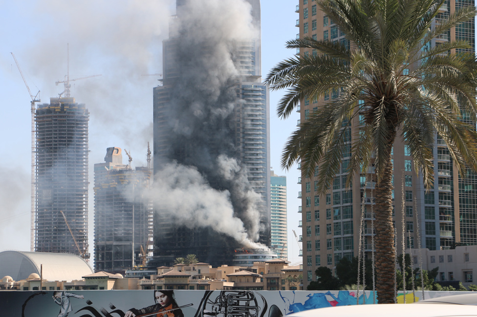 Bbc news dubai seeks cause of massive hotel fire at new year for New hotels in dubai 2016