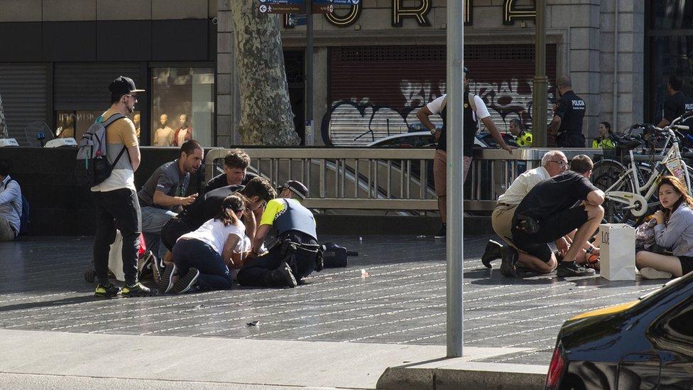 Spanyol, La Ramblas, Barcelona