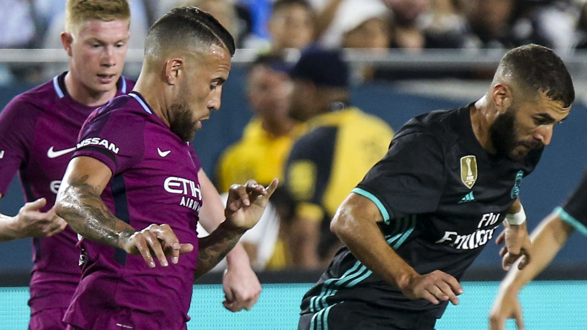 Mendy missing, but Man City thrash Real Madrid in LA friendly