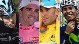(l-r) Chris Froome, Alberto Contador, Vincenzo Nibali and Nairo Quintana