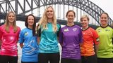 WBBL players in front of Sydney Harbour Bridge