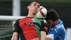 Glentoran in action against Dungannon