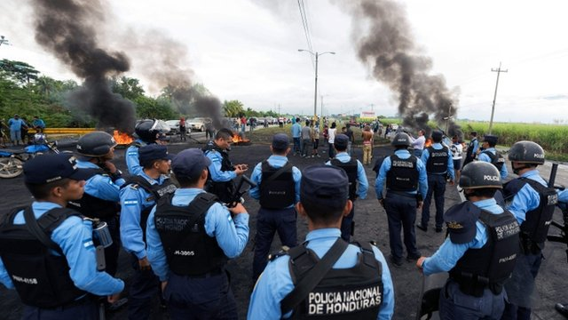 Policías Honduras
