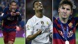 Neymar, Ronaldo, Messi