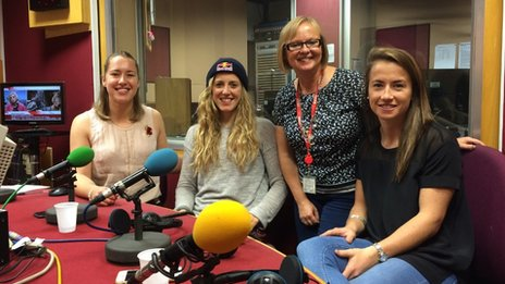 Lizzy Yarnold, Rachel Atherton, Eleanor Oldroyd and Maddie Hinch