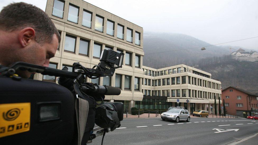 TV cameraman at work in Vaduz