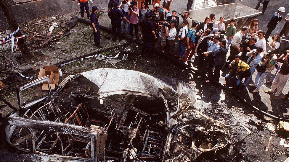 Un atentado de ETA en Madrid en 1993