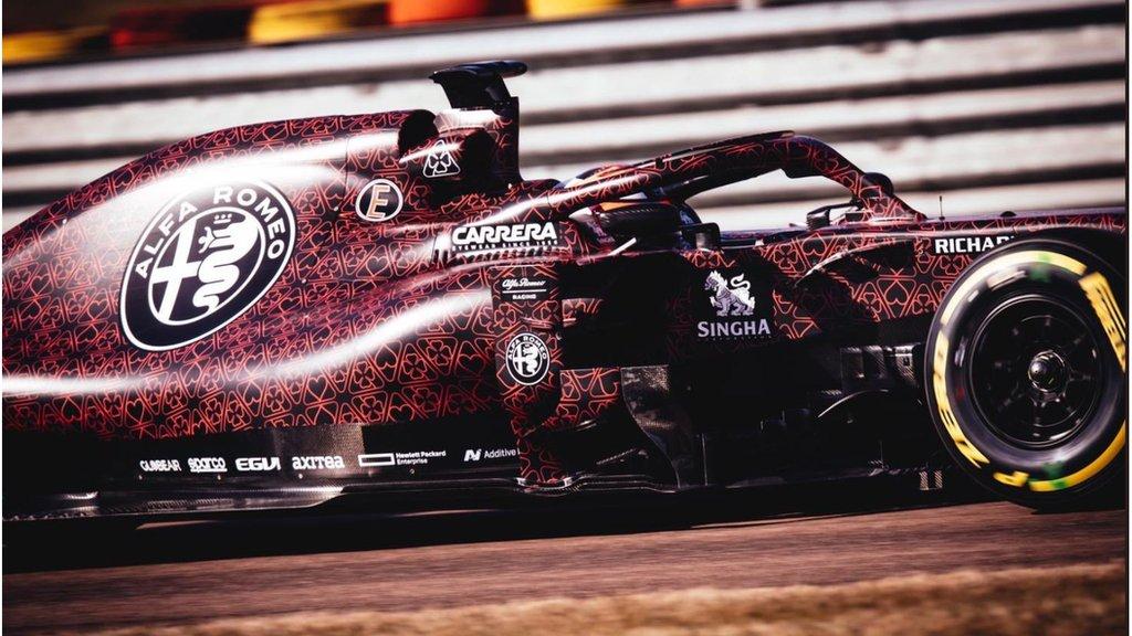 Kimi Raikkonen puts first miles on new Alfa Romeo Formula 1 car