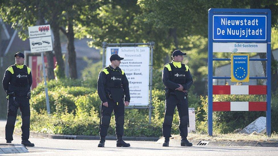 La policía de Holanda