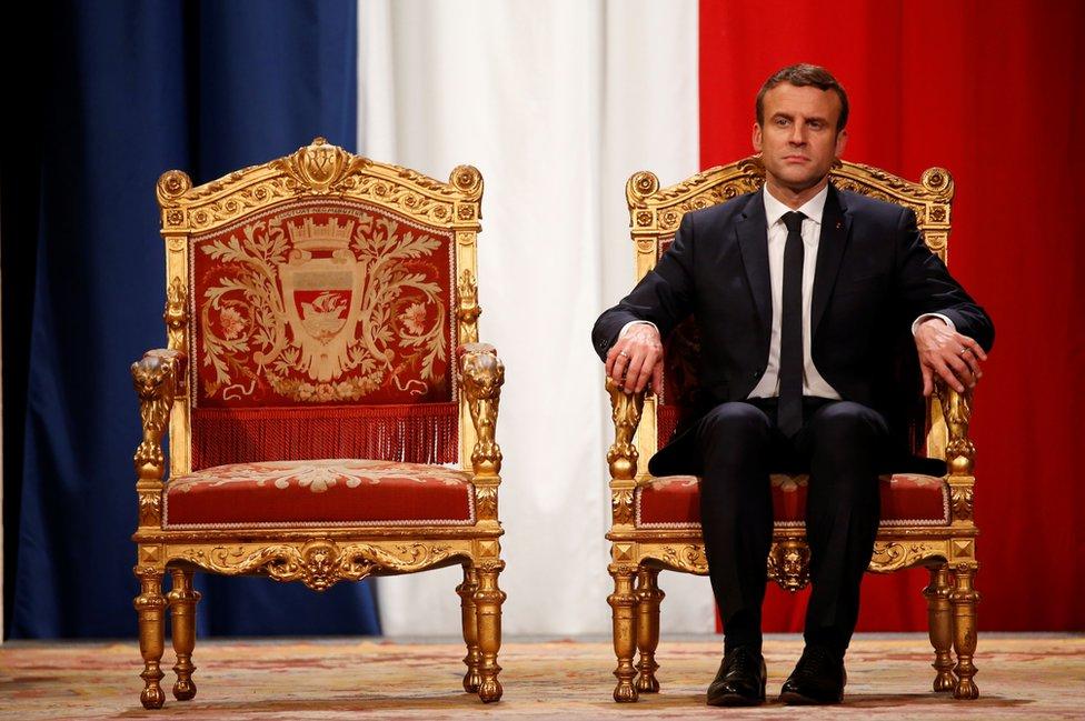 Emmanuel Macron durante la ceremonia de posesión de su presidencia