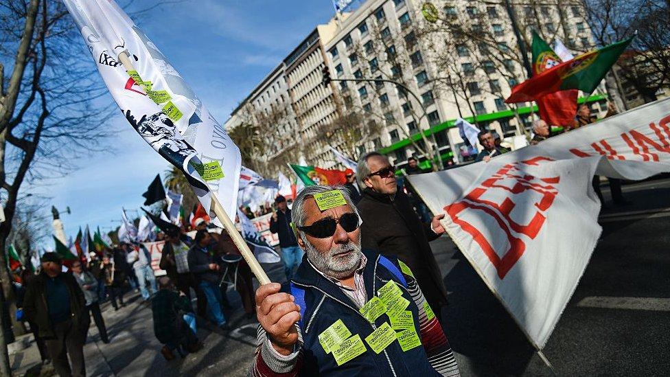 Las políticas de austeridad generaron grandes protestas en Portugal.