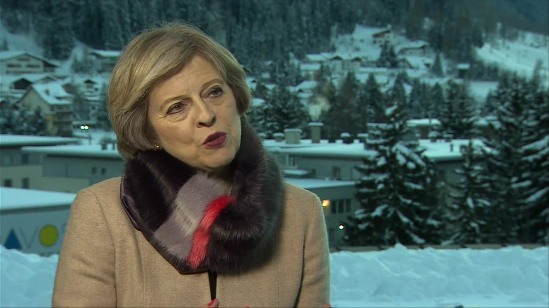 May's 'positive discussion' with banks