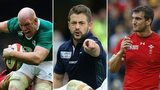 Paul O'Connell, Greig Laidlaw and Sam Warburton