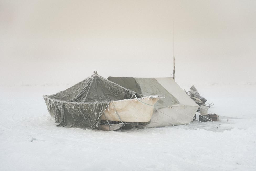 Campamento en el hielo