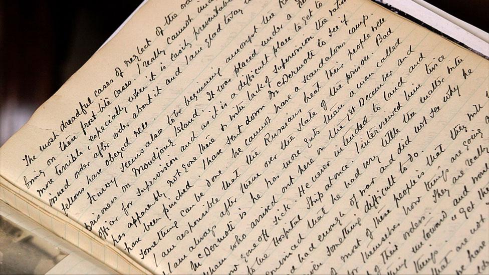 Uno de los diarios del general Ironside describe las difíciles condiciones del campamento de prisioneros.