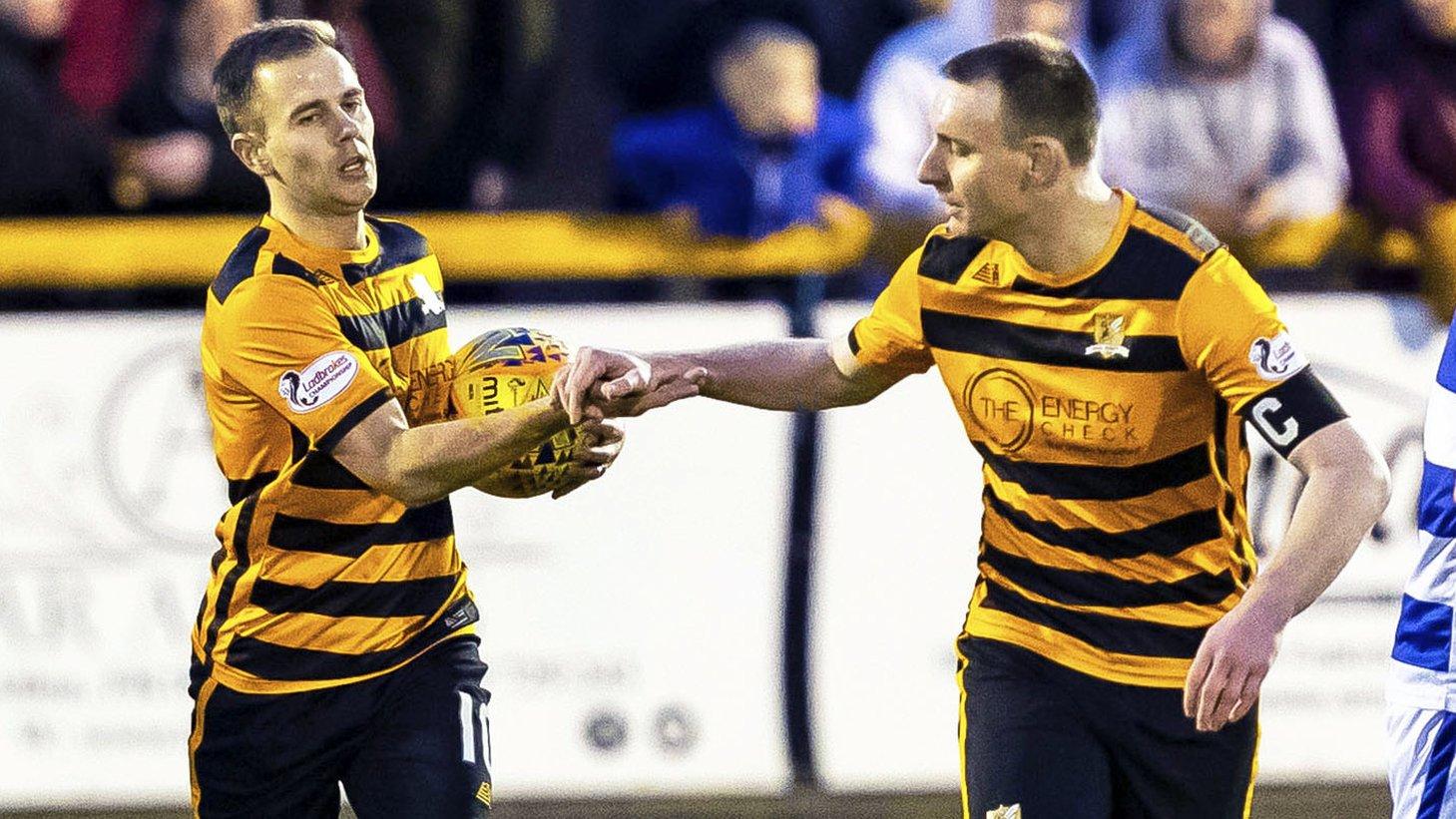 Bizarre own goal completes Alloa's comeback win over Morton