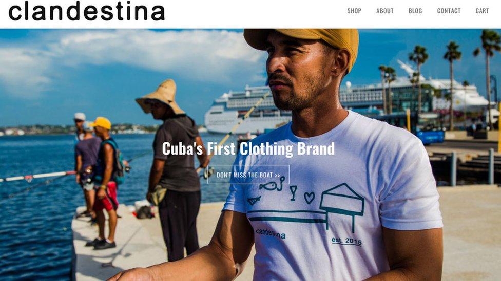 El sitio web de Clandestina (Foto: Clandestina)