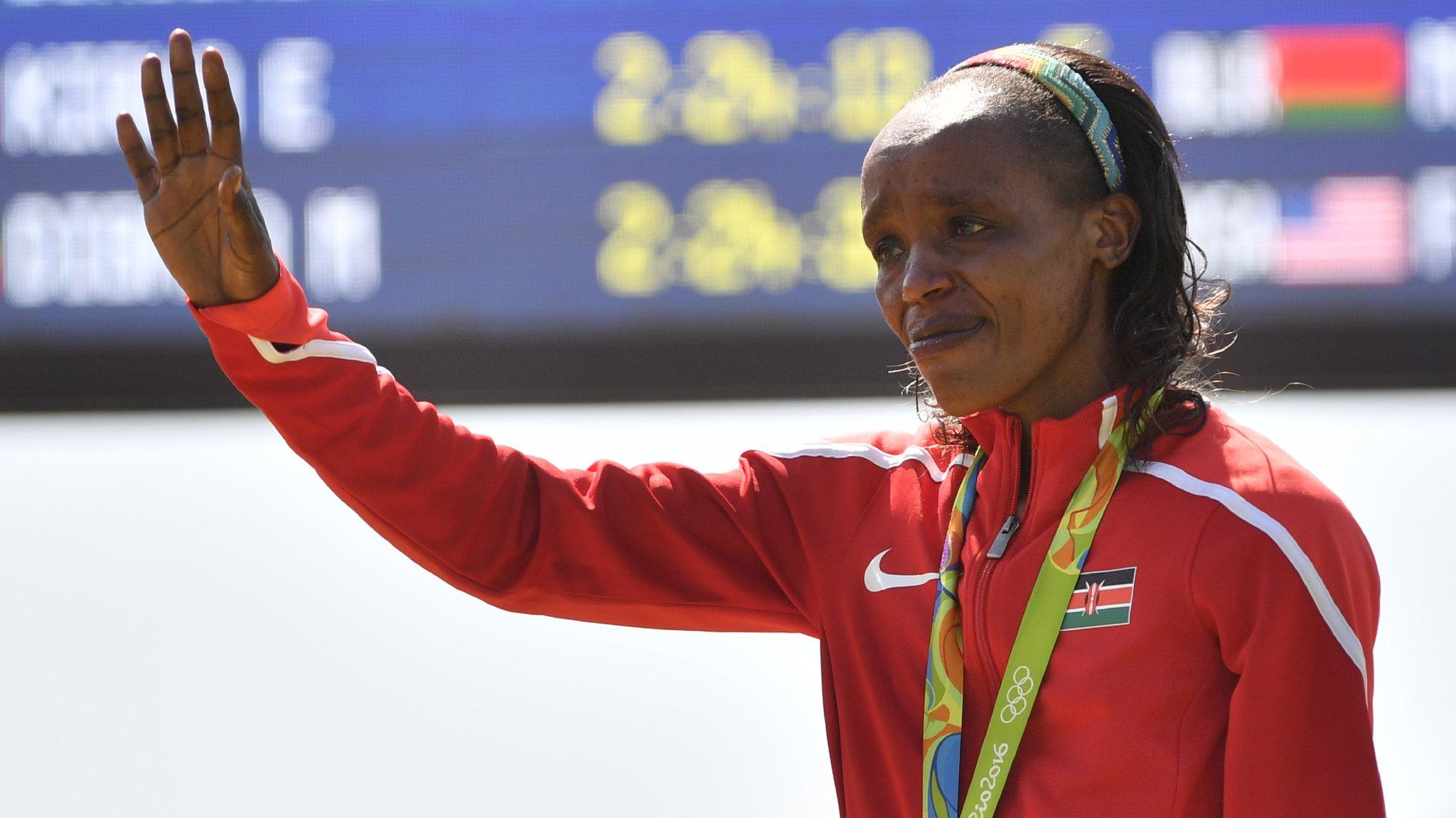 Jemima Sumgong: Four-year doping ban for Olympic marathon champion