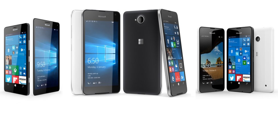 Teléfonos con el sistema de Windows 10 Mobile (Foto: Microsoft)