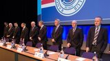 Rangers' board at Clyde Auditorium