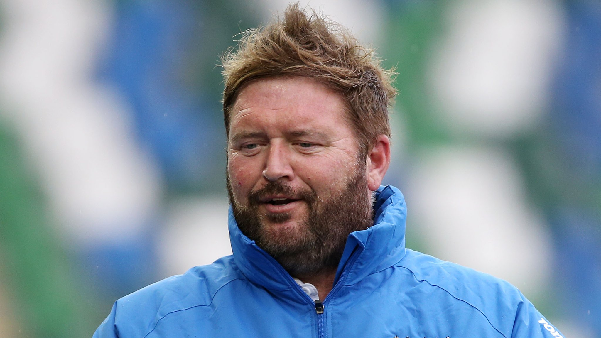 Niall Currie watches Ards game as move to Portadown appears likely