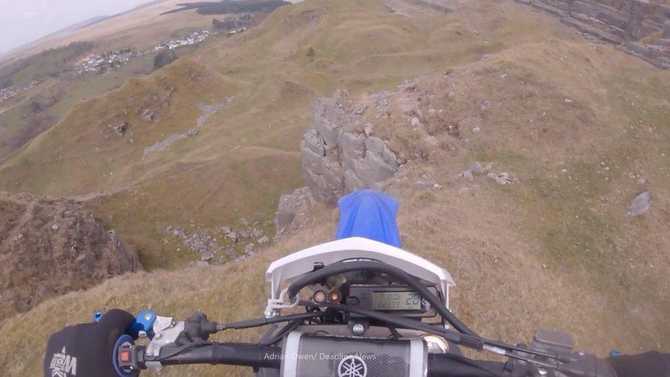 Off-road biker survives 30ft quarry fall in Merthyr Tydfil