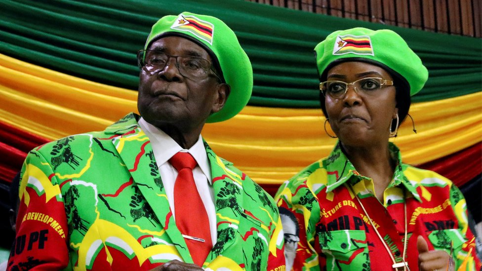 Zimbabwe's ruling party sacks Robert Mugabe as leader