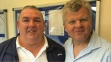 Neville Southall and Adrian Chiles