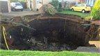 'Sinkhole' on Fontmell Close, St Albans