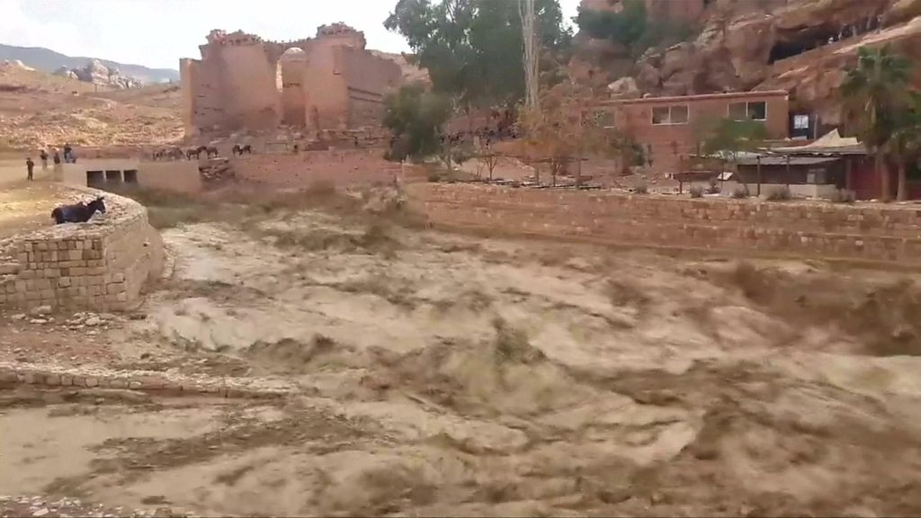 Deadly flash floods hit Jordan's iconic city of Petra