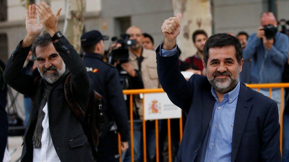 صدور حکم ادامه بازداشت دو رهبر استقلال طلب کاتالونیا