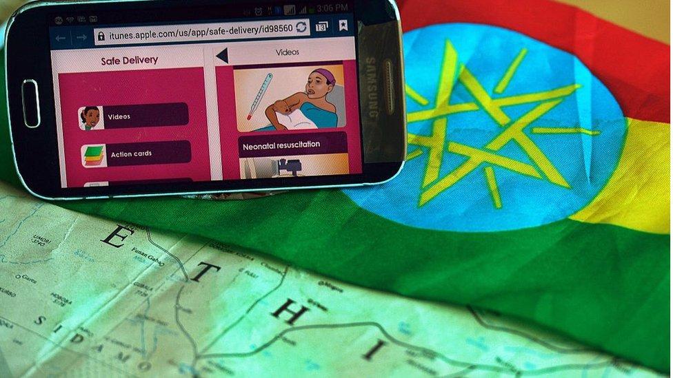 Celular con internet en Etiopía