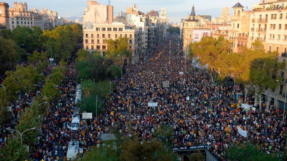 Manifestación en Barcelona.