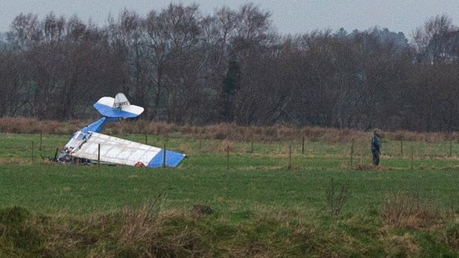 Causeway Airfield: Two injured after plane comes down