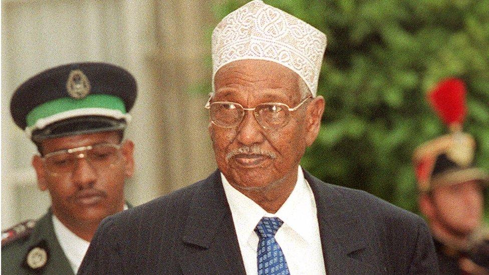 Djibouti's past president Hassan Gouled Aptidon
