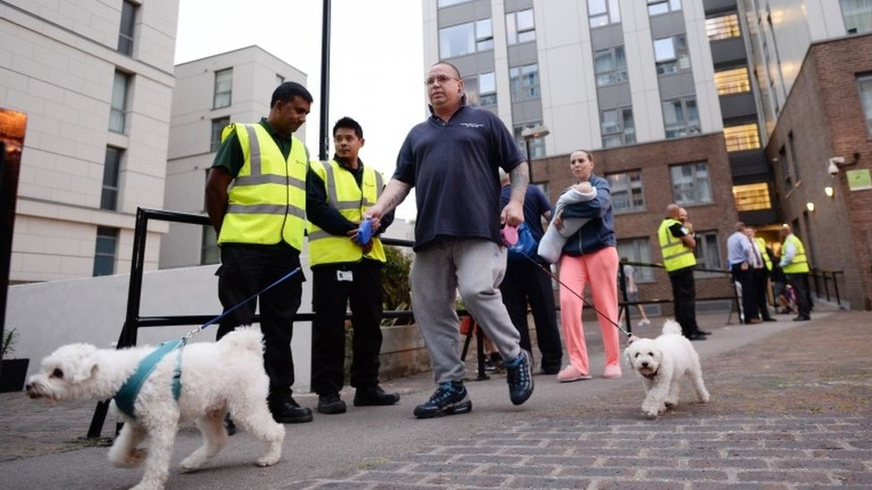 Camden flats: Hundreds of homes evacuated over fire risk fears