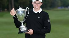Matthew Fitzpatrick with the British Masters trophy