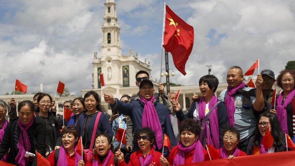 جاء حجاج من الصين لحضور عظة البابا فرانسيس